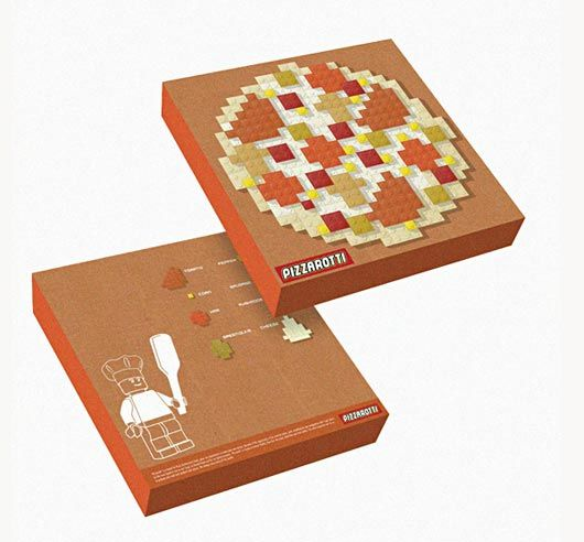 I never saw a pizza box that actually has a real size pizza ...