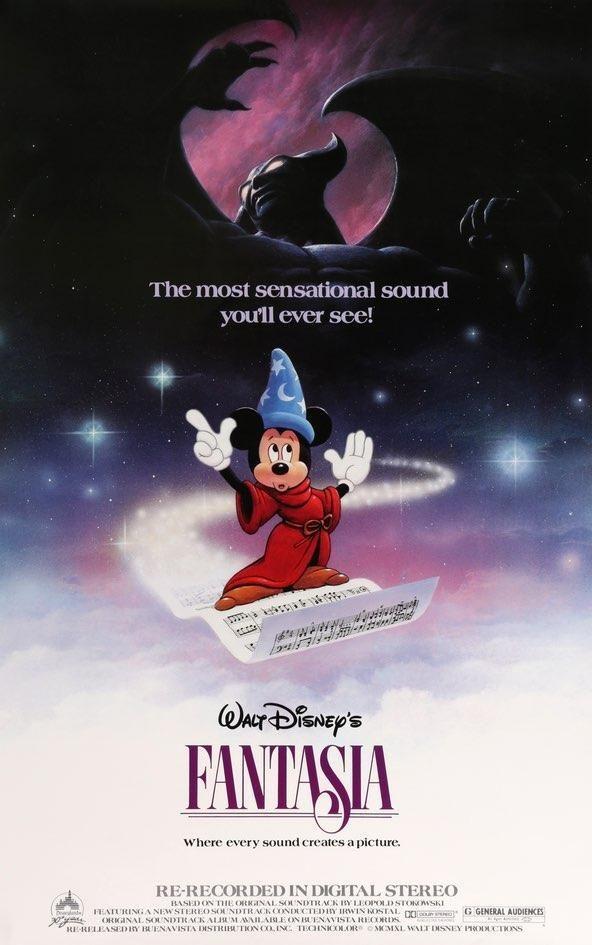*FANTASIA (1940) Disney movie posters, Animated movie