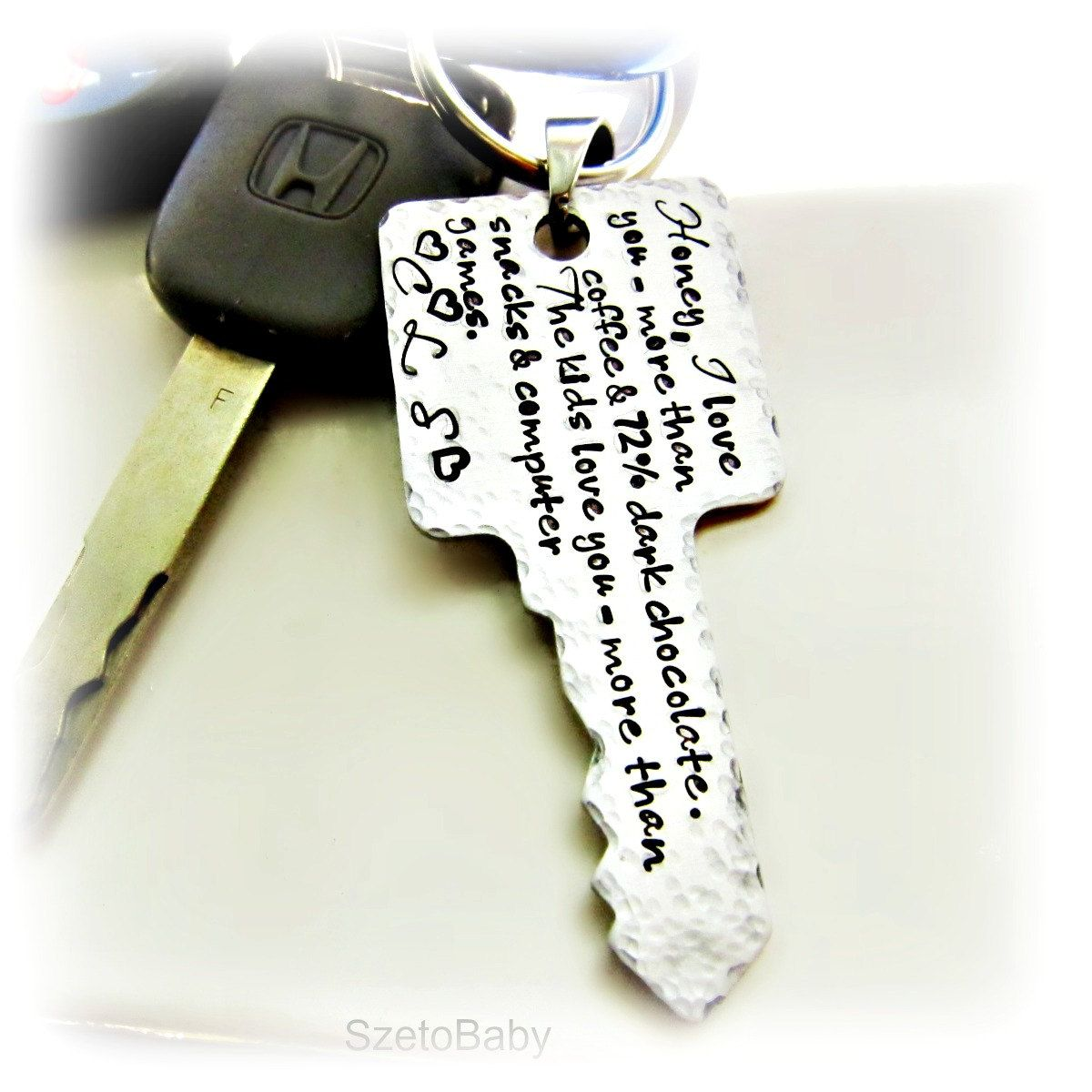 Items Similar To Personalized Mens Keychain Dad Grandpa Boyfriend Fiance Key My Heart Customized Up 110 Character Es On