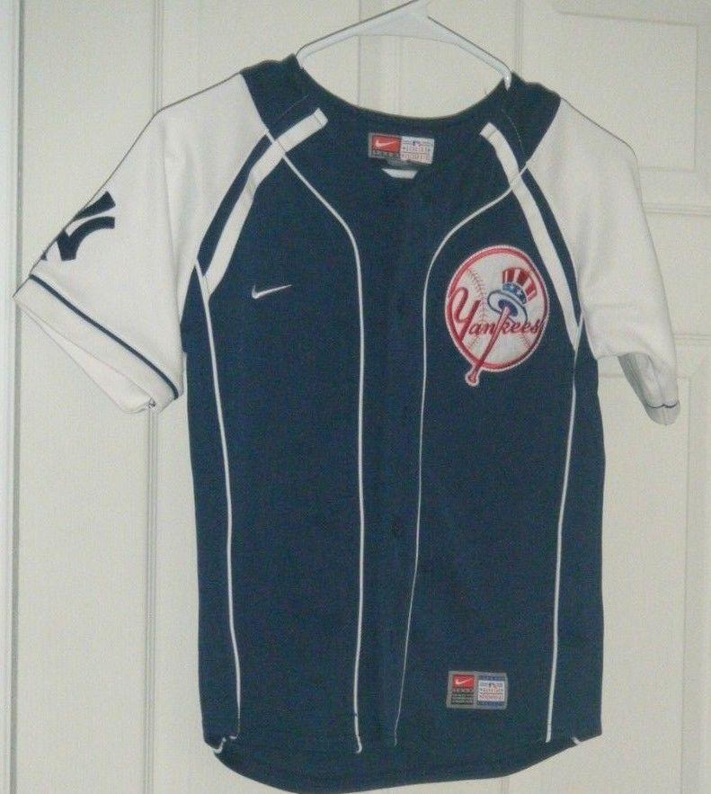 newest 39751 cc9a4 Derek Jeter Nike Team Baseball Jersey Youth Small Yankees ...