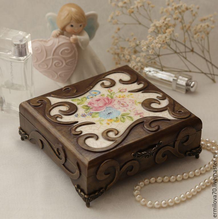 Купить Короб для рукоделия - разноцветный, короб, для рукоделия, пэчворк, Декупаж, для хранения, картонный короб