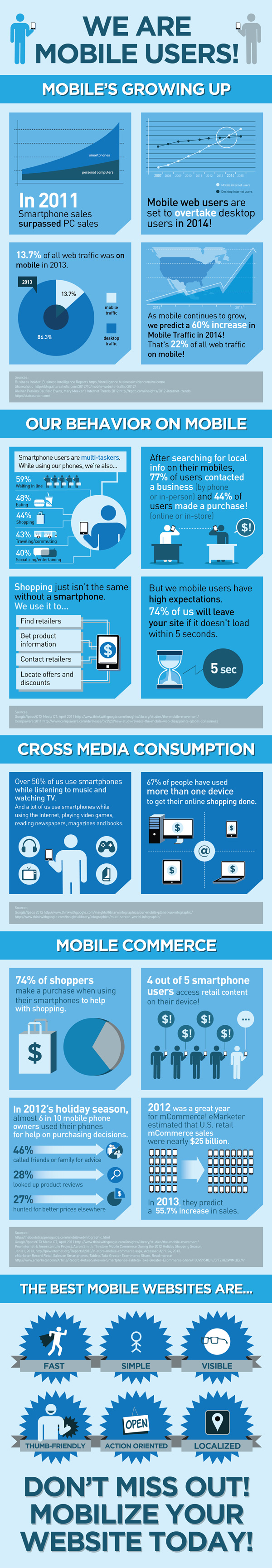Mobile Web Rationale Infographic