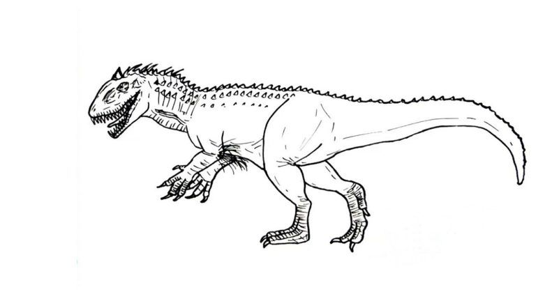 Indominus Rex Coloring Pages in 2020 | Coloring pages ...