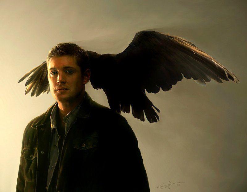 Painting of Dean Winchester from Supernatural. By Euclase