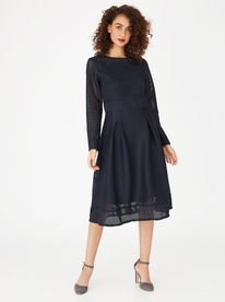 b0e12affd6f Edit Airtex Dress Navy