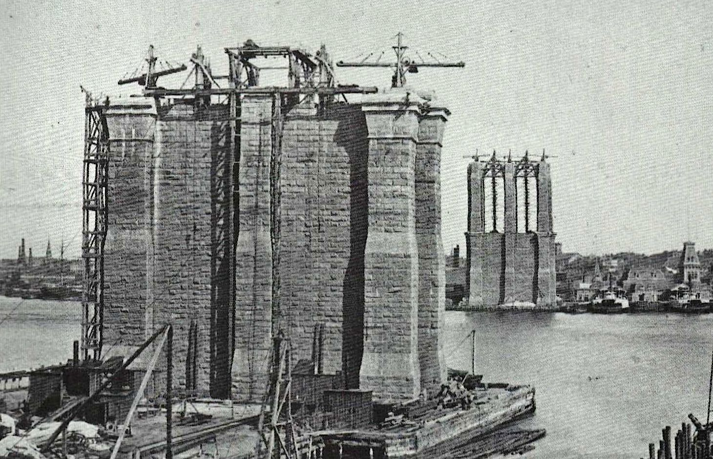 caissons were massive wooden boxes 3 000 tons each for. Black Bedroom Furniture Sets. Home Design Ideas