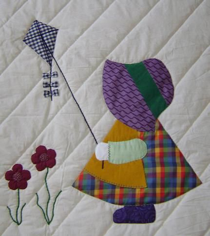 Sun bonnet sue quilt patterns free | Sunbonnet Sue Evalyn Quilt #sunbonnetsue