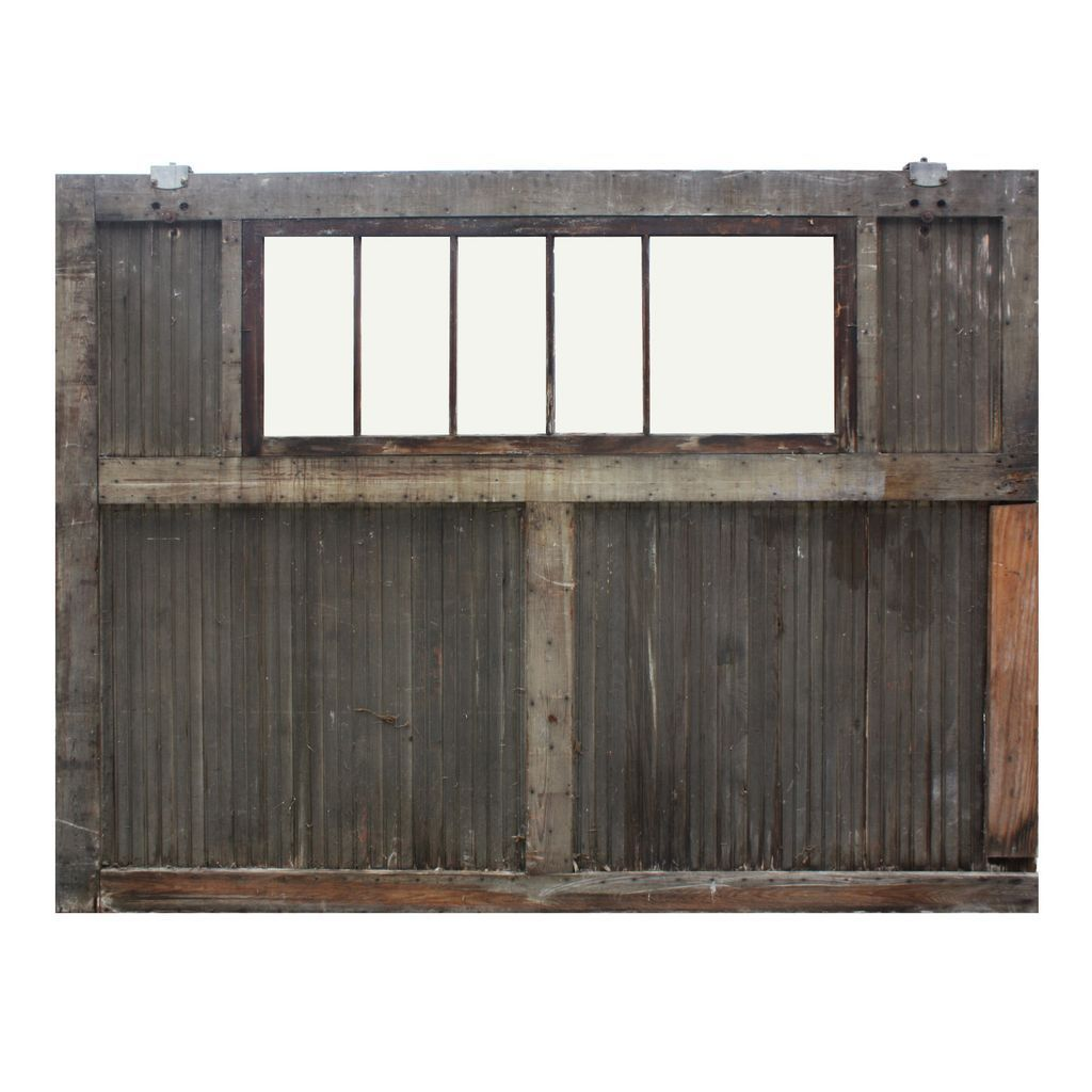 Carriage garage doors without windows  Substantial Antique Reclaimed Carriage Doors Early s  Study