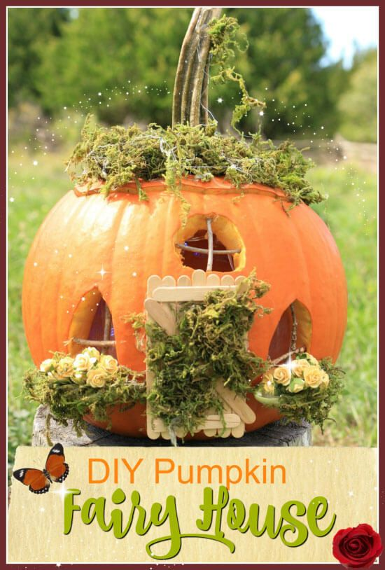 DIY Pumpkin Fairy House Pumpkin fairy house, Fairy houses and Fairy - natural halloween decorations