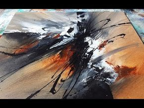 Abstract Painting DEMO 32 Art Blending Acrylics Techniques