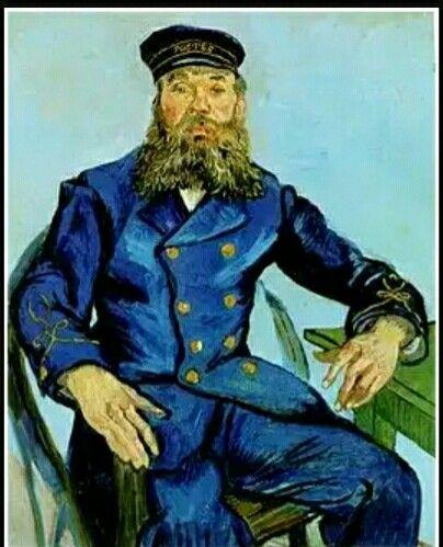 47. Vincent van Gogh, ritratto del postino Roulin, 1888 m 0,79x0,63 tela Boston m of fine arts