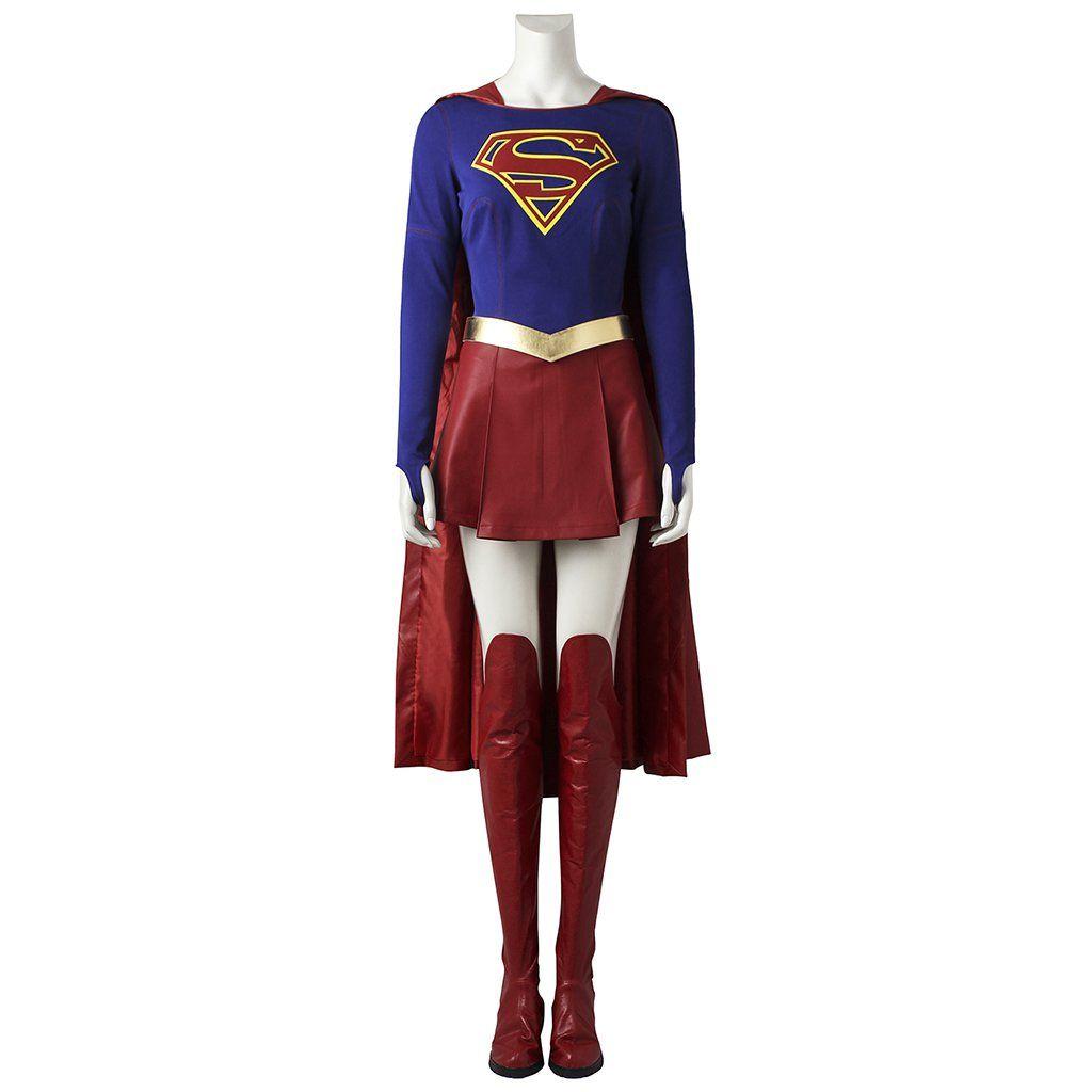 Supergirl Kara Zor El Cosplay Costume Full Size Halloween Adult Women Costume