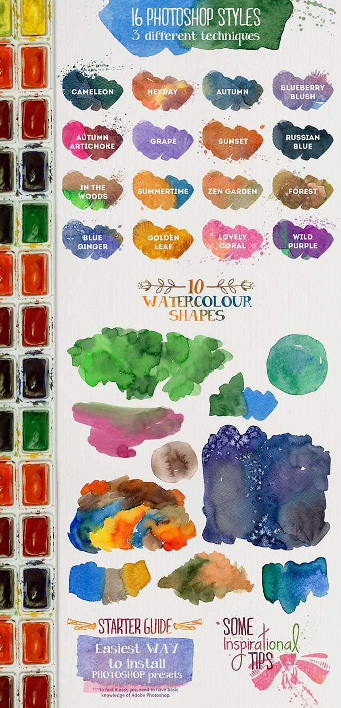 Free Watercolor Layer Styles For Photoshop Photoshop Styles