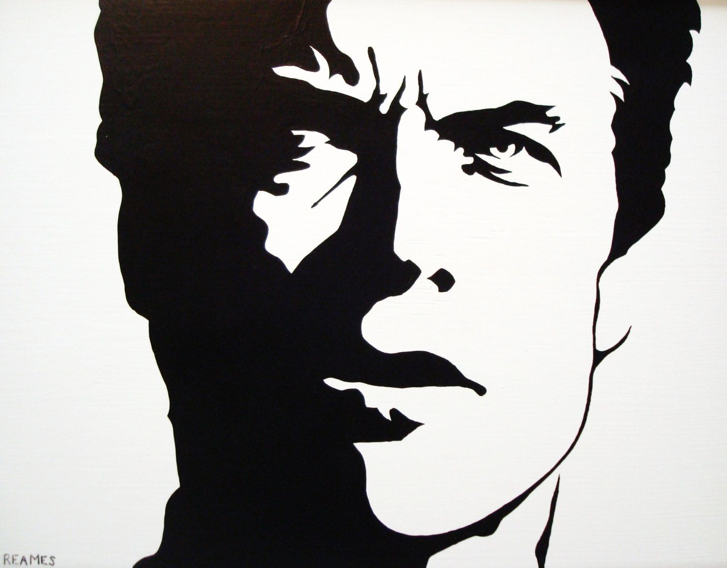 clint eastwood black white pop art 69 00 via etsy artwork