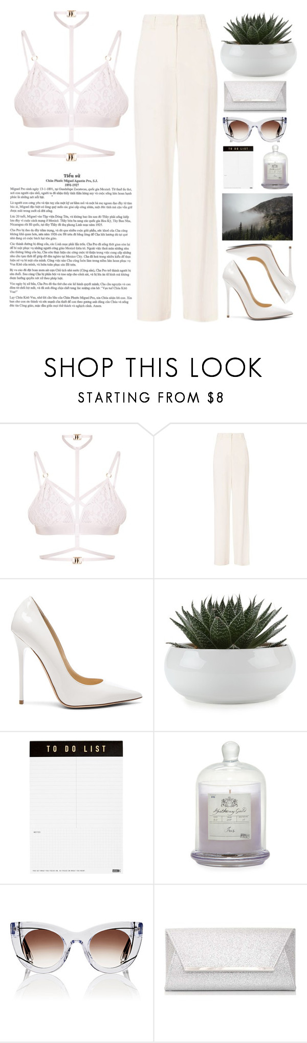 """The Fault in our stars"" by holly-k15 ❤ liked on Polyvore featuring Kamilla White, A.L.C., Jimmy Choo, kikki.K, Zodax, Thierry Lasry and Dorothy Perkins"