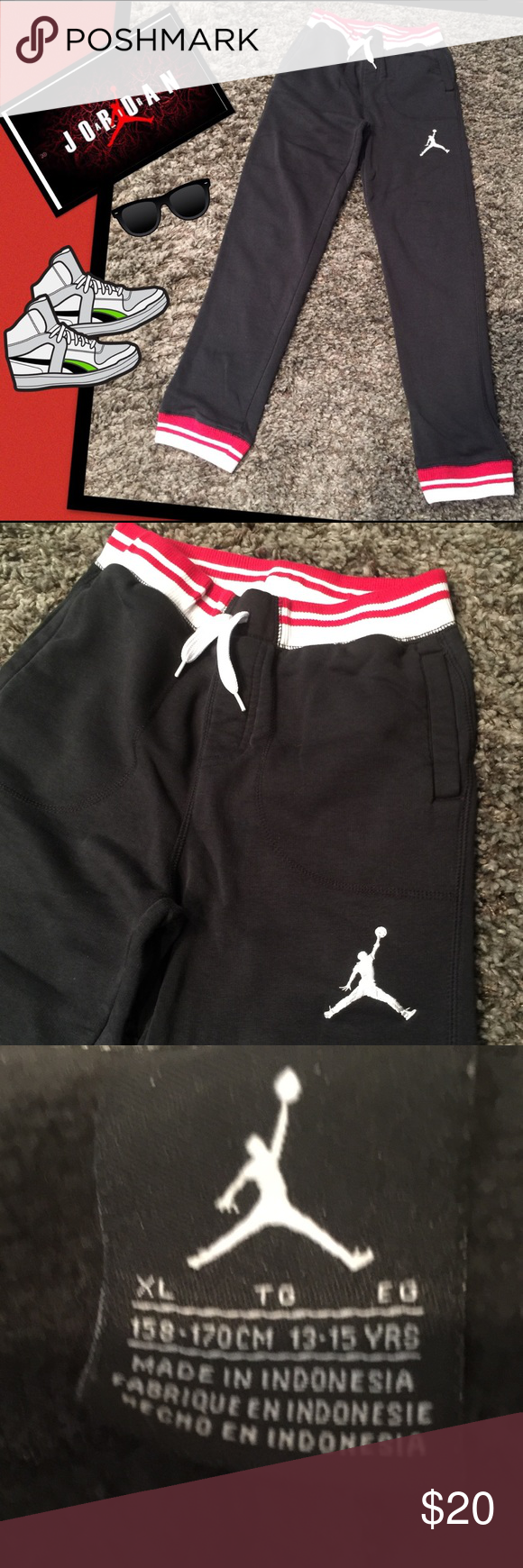 50f54bf6a24593 Kids Jordan Sweatpants Footlocker sweatpants Jordan.. Great condition..  Jordan Bottoms Sweatpants   Joggers