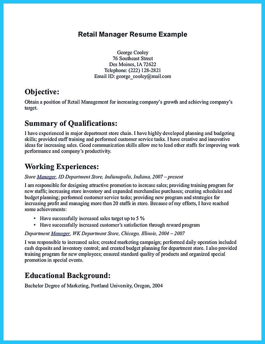 Freeresumetemplates Resume Objective Examples Resume Examples Retail Resume Examples