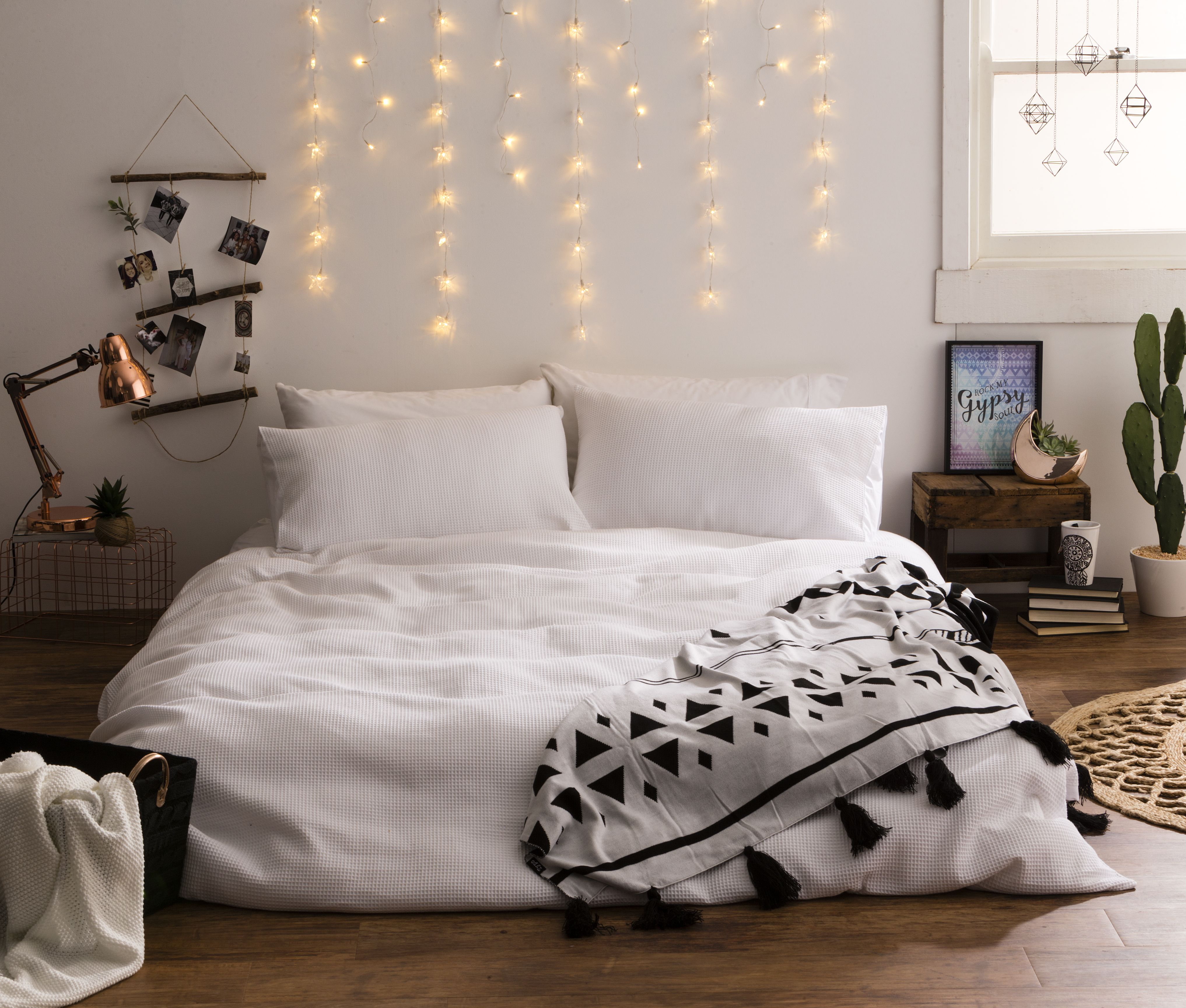 Go back to the bedroom with the cozy warm Typo curtain lights ...