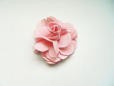 TUTORIAL - Handmade Flower (t-shirt flower)