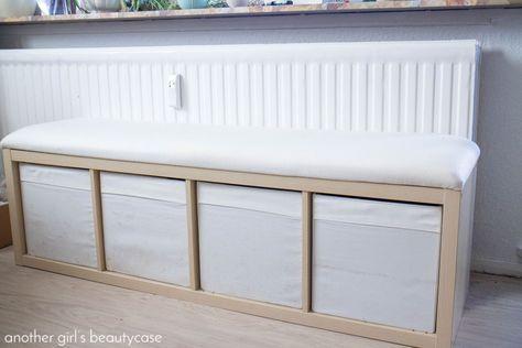 ikea hack sitzbank aus kallax regal wohnung pinterest kleine wohnung einfache diy und. Black Bedroom Furniture Sets. Home Design Ideas