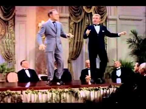 James Cagney and Bob Hope at a Friar's Club Meeting back when actors were real performers. Bob Hope was 52 and James Cagney was 56.   http://yt.cl.nr/ZG0eOEhwcGQ  Nat a movie clip, but a great dance routine