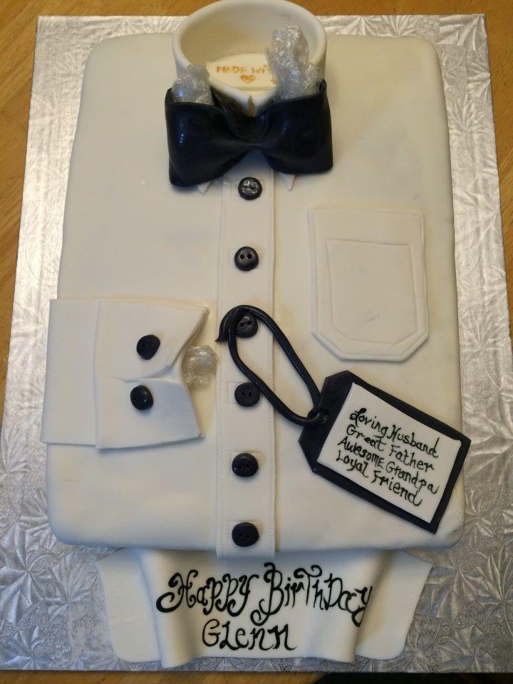 Th Birthday Cake Classic White Dress Shirt With Black Bowtie - Birthday cake shirt
