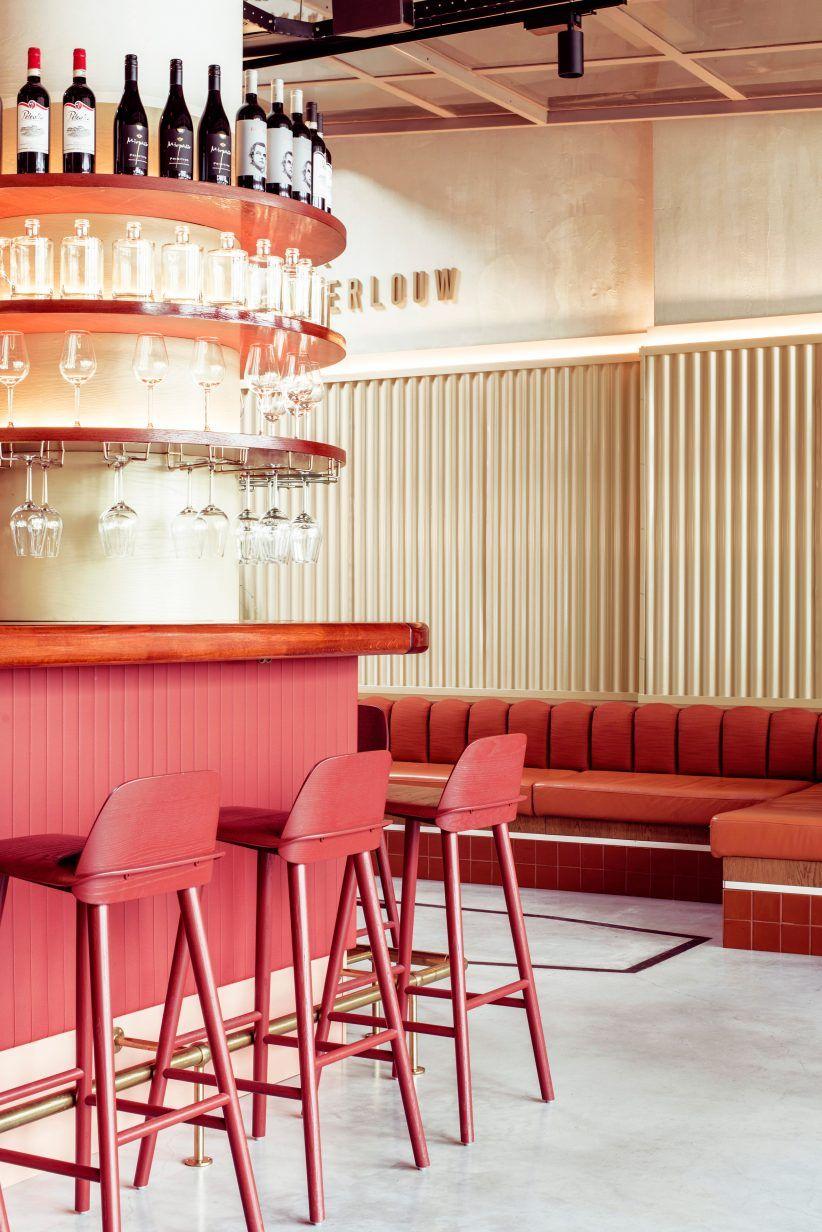 Vintage Cars Inform Design Of Garage Pompen Verlouw Restaurant In The Netherlands Cozy Restaurant Interior Interior Design