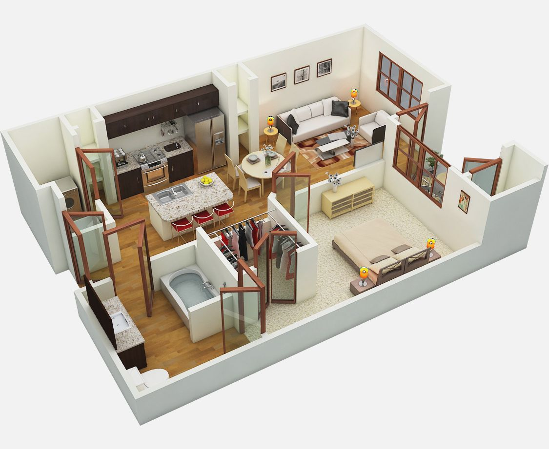 Studio Apartment Architectural Plans 3d floor plan studio apartment floor plans and pricing amalfi