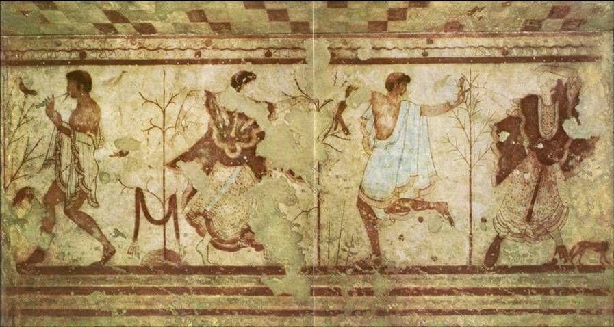 Etruscan mural. Tarquinia