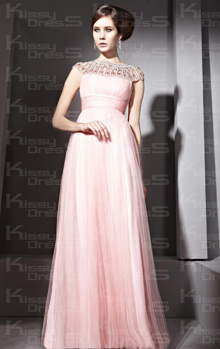 Wedding Long Formal Dress tulle elegant a line boat neck sleeveless long prom dress ms dresses