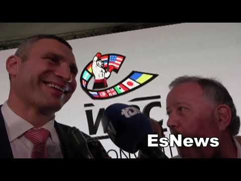 Vitali Klitschko Loves Usyk Talks Wilder vs Fury Anthony Joshua EsNews Boxing #allthebelts