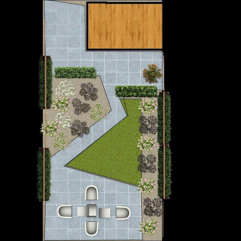 Tuinontwerp kleine tuin - design small garden - Tuin | Pinterest ...