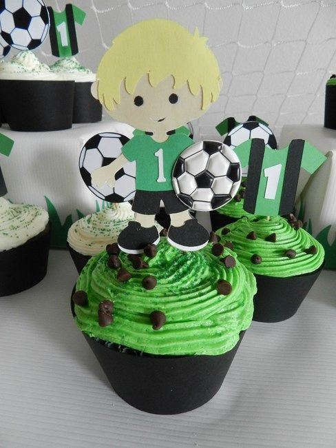 Kingston S First Birthday Simple Birthday Party Birthday Cake Kids Soccer Theme Parties