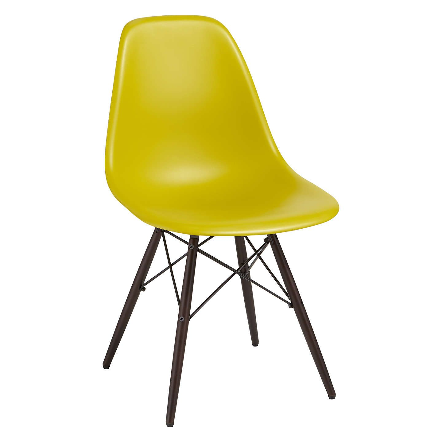 Eames Chair Wien vitra eames dsw 43cm side chair green black maple side