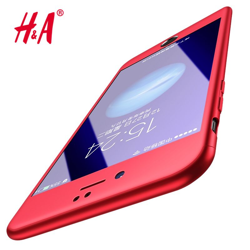 H&A 360 Degree Full Cover Black Case For iPhone 6 6s Plus With ...