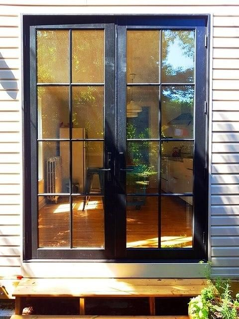 Black Rail and Stile French Door with Two-by-Four SDL ...