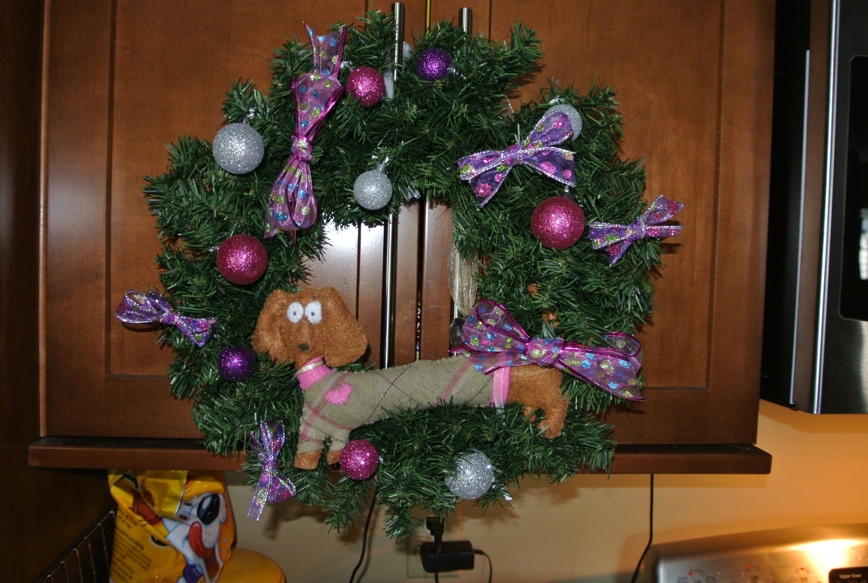 So took that weiner dog, and put it on a wreath I ...