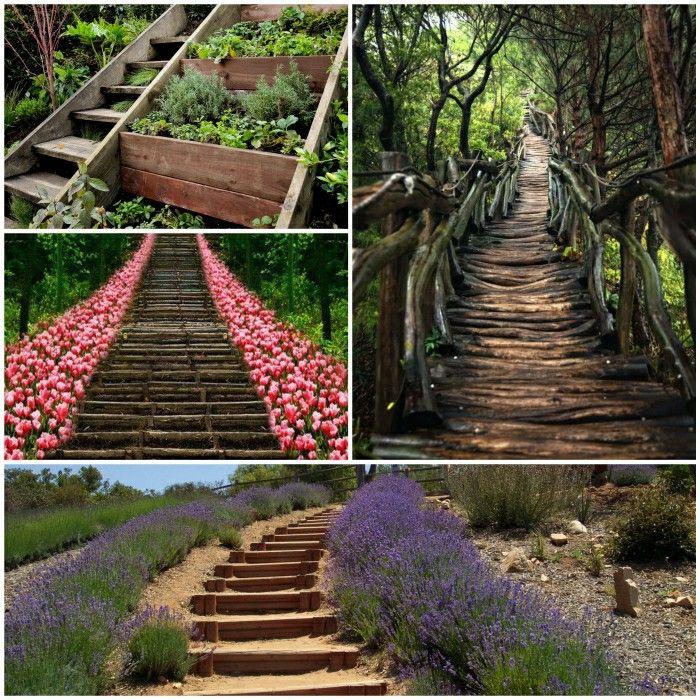 schne garden stairs wood Garden Plants Pinterest Garden