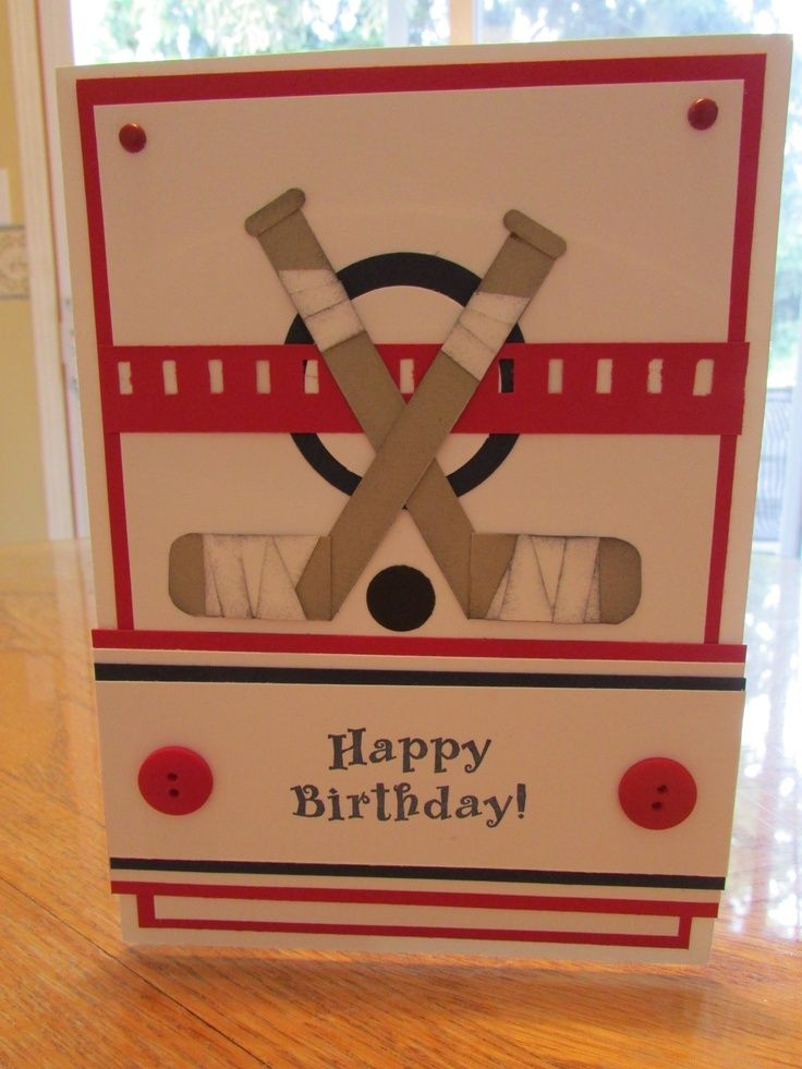 Image Result For Homemade Hockey Birthday Cards Paper Crafting