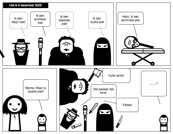 prevoid – voor de leegte - #Sinterklaas strip over #zwartepiet en racisme