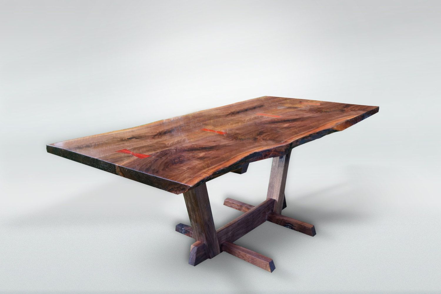 Nakashima Style Live Edge Dining Table By Awoodstudio On Etsy, $4,400.00