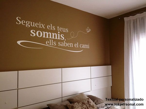 Vinilo decorativo personalizado con el texto e idioma a gusto del cliente en este caso m nica - Vinilos decorativos pared personalizados ...