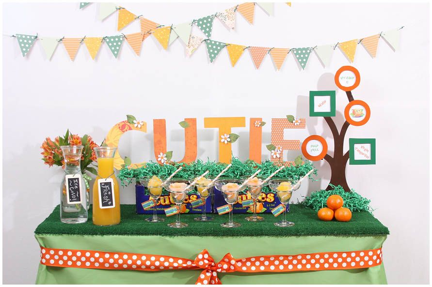 Orange Cutie Themed Baby Shower Baby Shower Fun And Babies