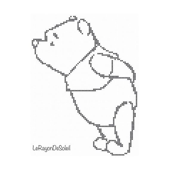 Cross stitch pattern Winnie the Pooh little by