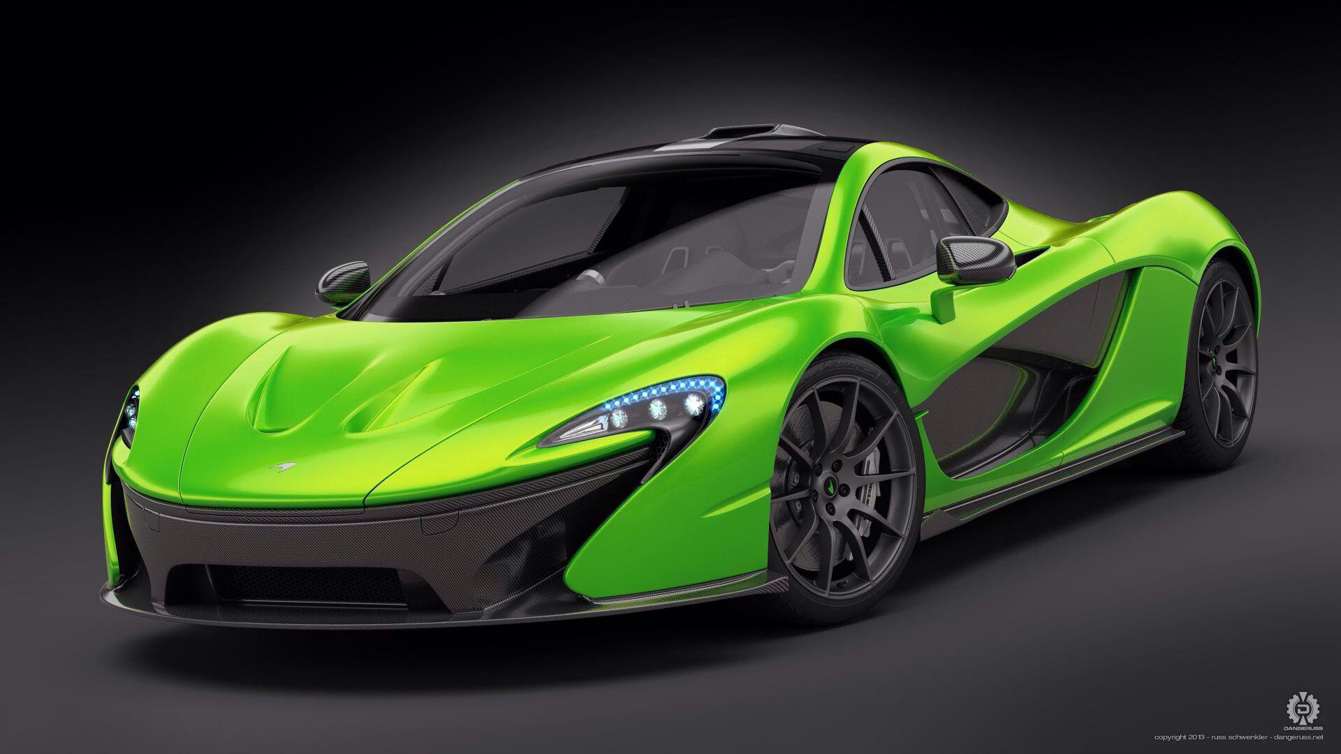 Mclaren Mp1 Neon Green Automotive Viper Green Mclaren P1