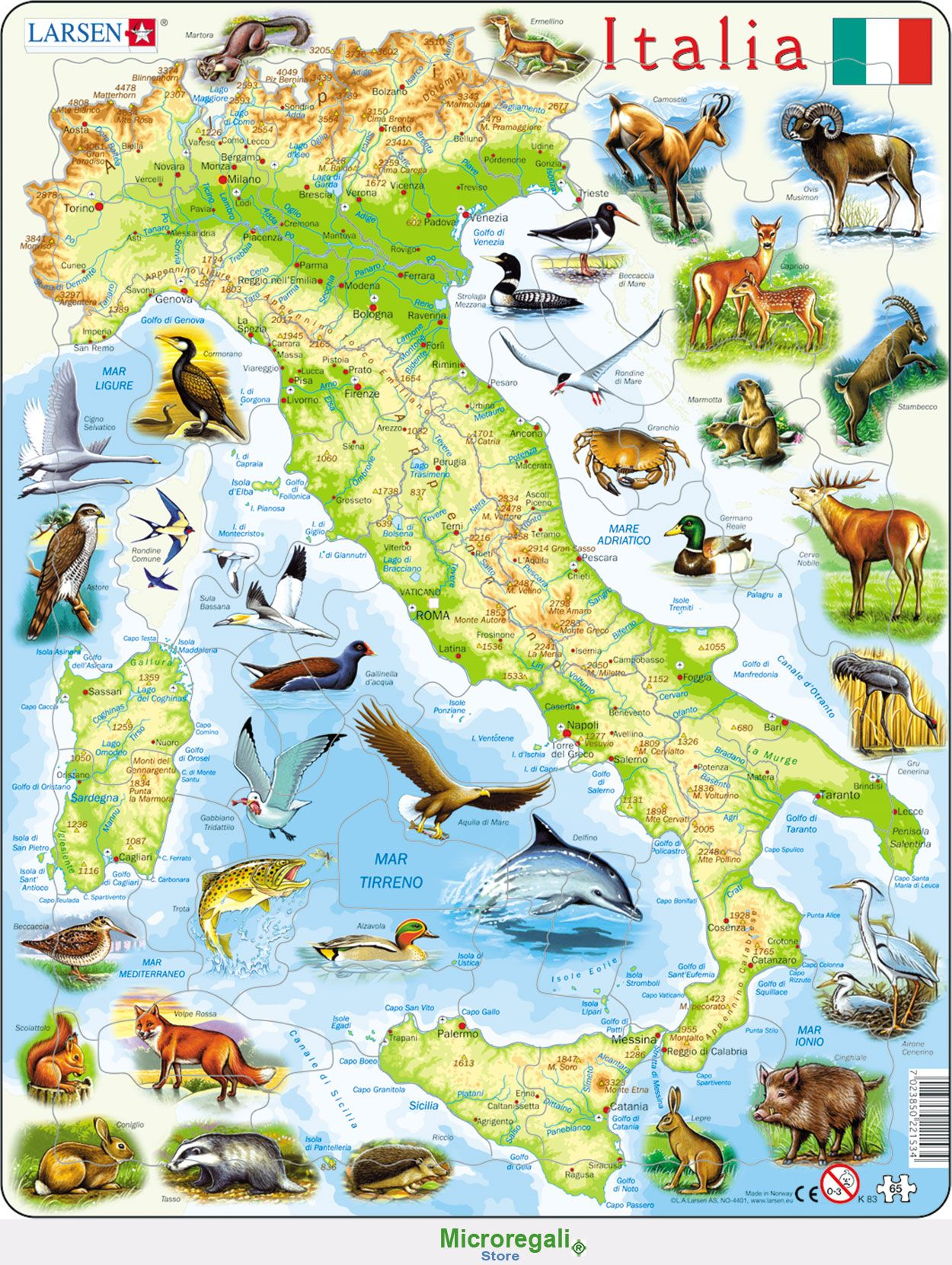 Puzzle per bambini cartina dell 39 italia cm 36x28 65 pezzi - Mappa dell inghilterra per i bambini ...