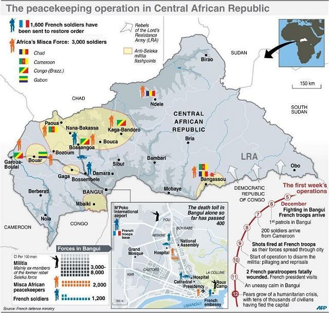 Image result for central african republic conflict map