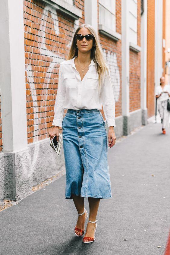 Resultado de imagem para camisa social branca street style