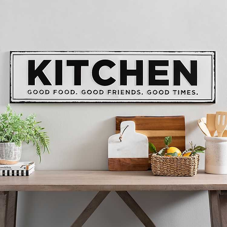 Kitchen Good Food Good Friends Good Times Plaque In 2020 With
