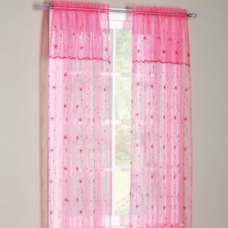 Sears Curtains And Valances Flora Sheer Panel With Attached